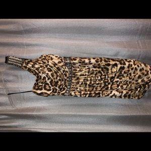 B. Darlin one shoulder cheetah print dress